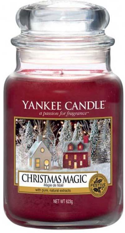 Свеча ароматизированная Yankee Candle Рождественское волшебство / Christmas Magic, 1556286E, 623 г ароматическая свеча yankee candle summer peach jar candle объем 623 г 623 мл
