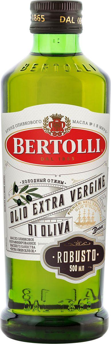 Оливковое масло Bertolli Robusto, 500 млFOIOL10210Оливковое масло холодного отжима с интенсивным фруктовым вкусом и ароматом. Натуральный вкус, подойдет для приготовления рагу и соусов.