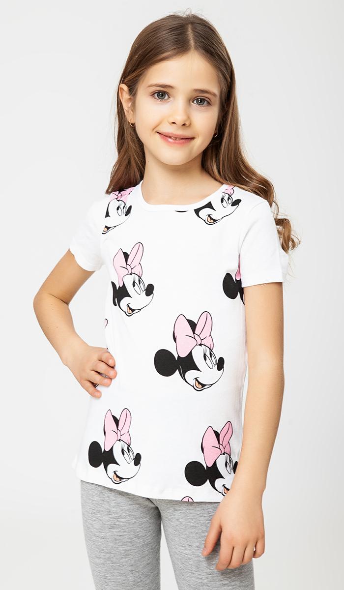 Футболка ТВОЕ Minnie Mouse (Disney) футболка для девочки твое цвет белый 60518 размер 110