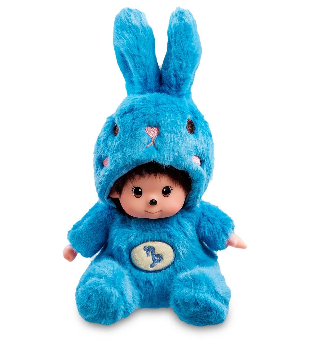 """Мягкая игрушка Lovely Joy """"Малыш в костюме Зайчика. Знак Зодиака - Козерог'', 25436, голубой, черный"""