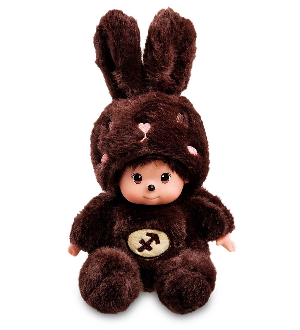 """Мягкая игрушка Lovely Joy """"Малыш в костюме Зайчика. Знак Зодиака - Стрелец'', 25438, темно-коричневый"""