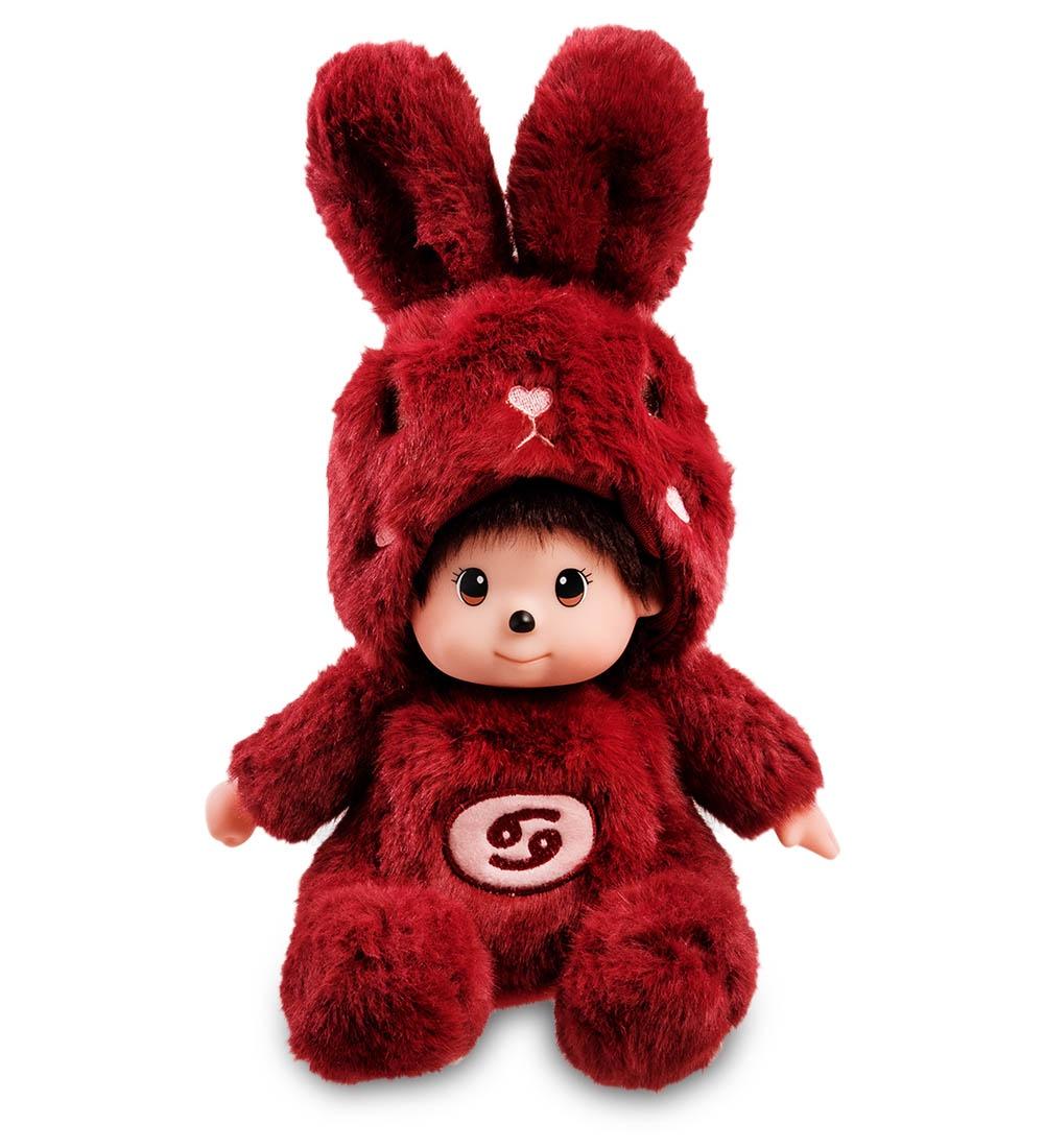 """Мягкая игрушка Lovely Joy """"Малыш в костюме Зайчика. Знак Зодиака - Рак'', 25446, темно-красный"""