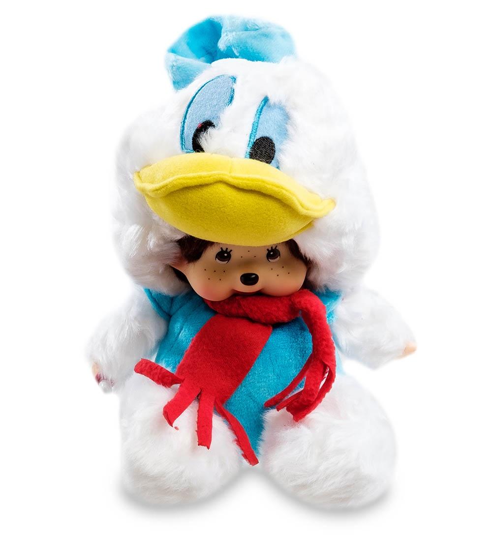 Мягкая игрушка Lovely Joy Малыш в костюме Дональд Дака, 25449, белый, голубой, красный мягкая игрушка lovely joy малыш в костюме кролика 25453 белый