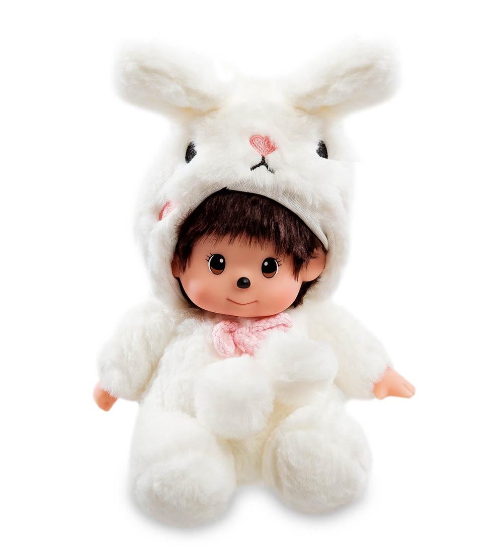 Мягкая игрушка Lovely Joy Малыш в костюме Кролика, 25453, белый мягкая игрушка lovely joy малыш в костюме кролика 25453 белый
