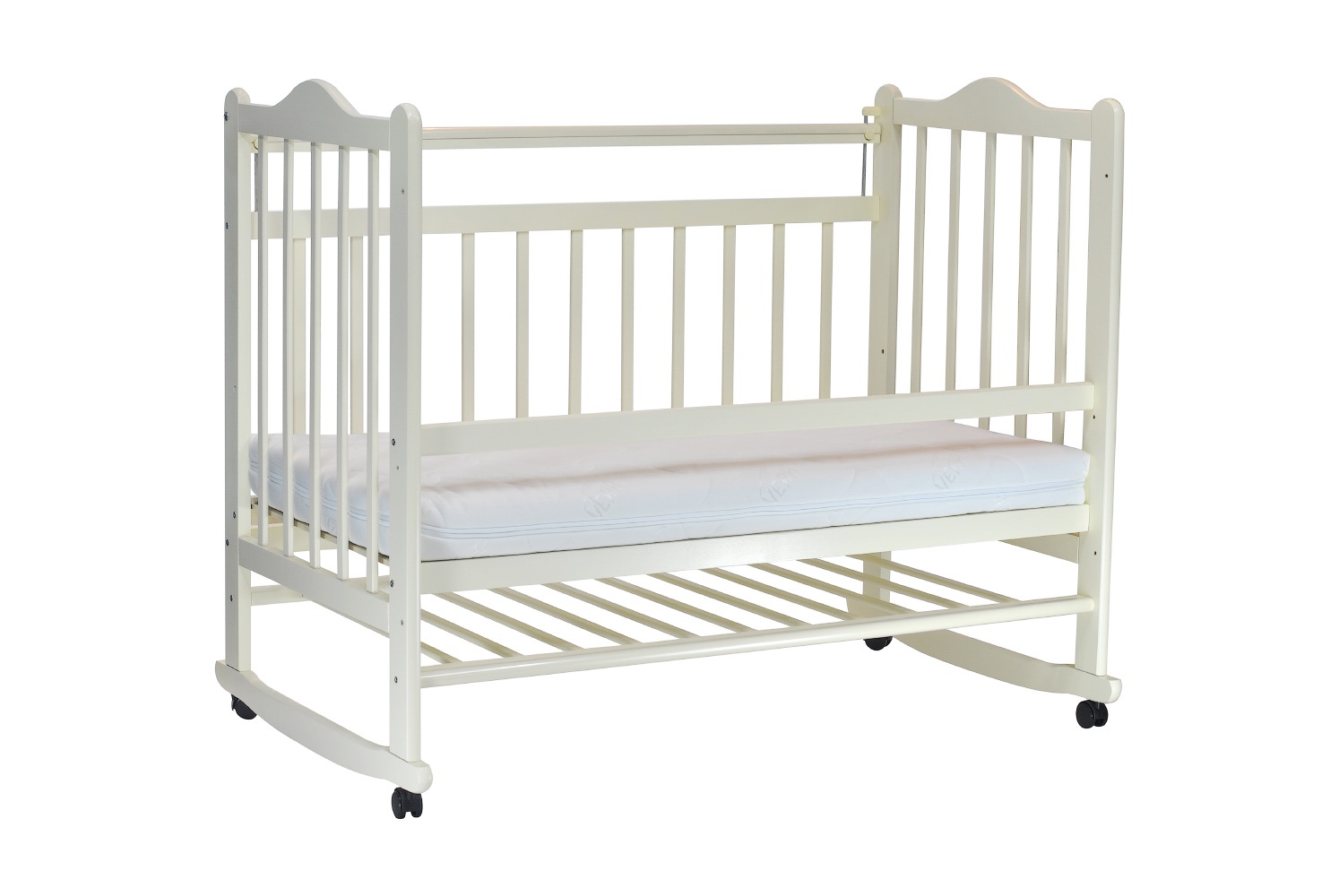 цена Детская кроватка Everflo Pali ivory ES-001 онлайн в 2017 году