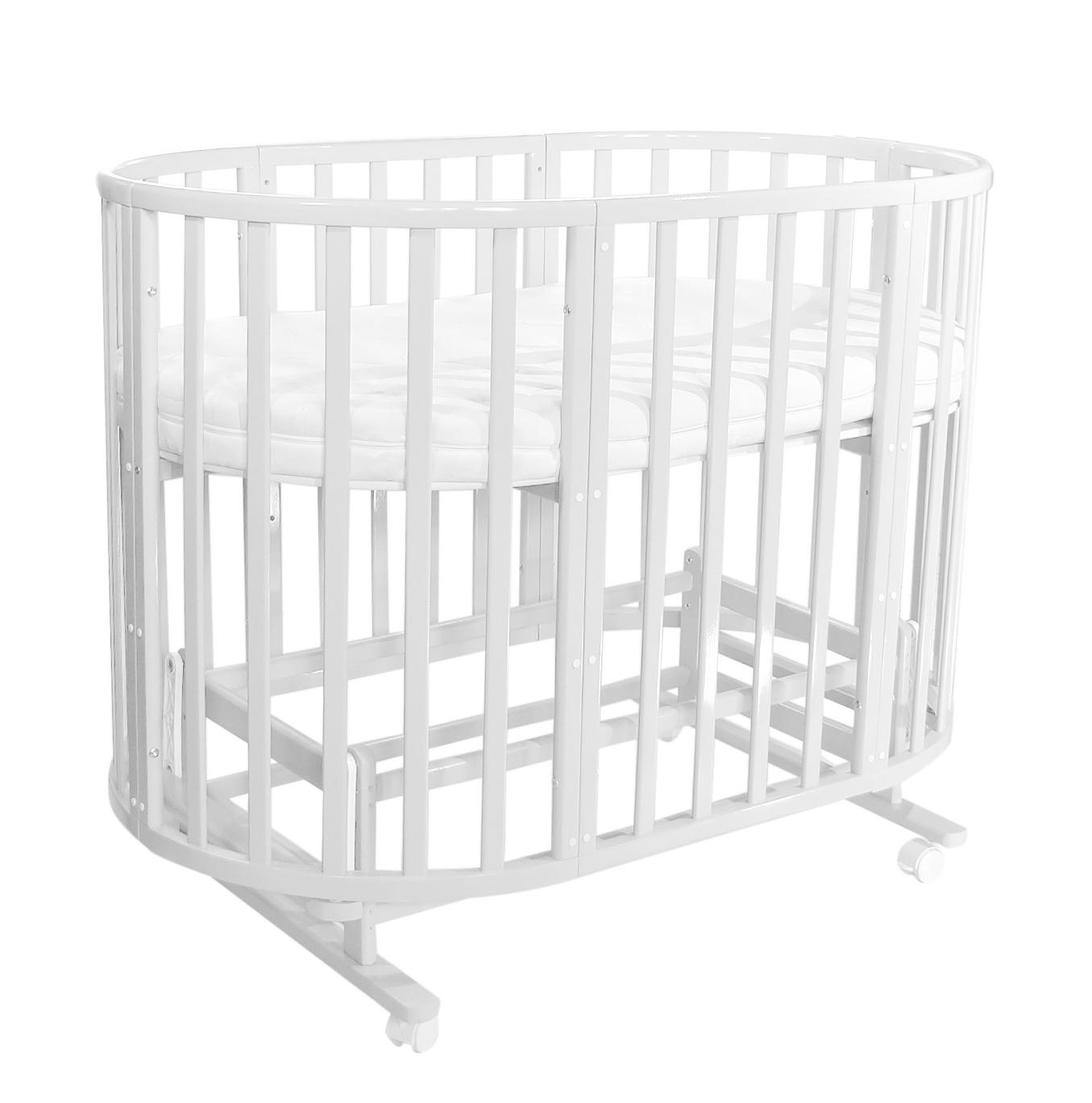 Кроватка детская Everflo Allure 7 в 1 Milk ES-008 с маятником, ПП100004168