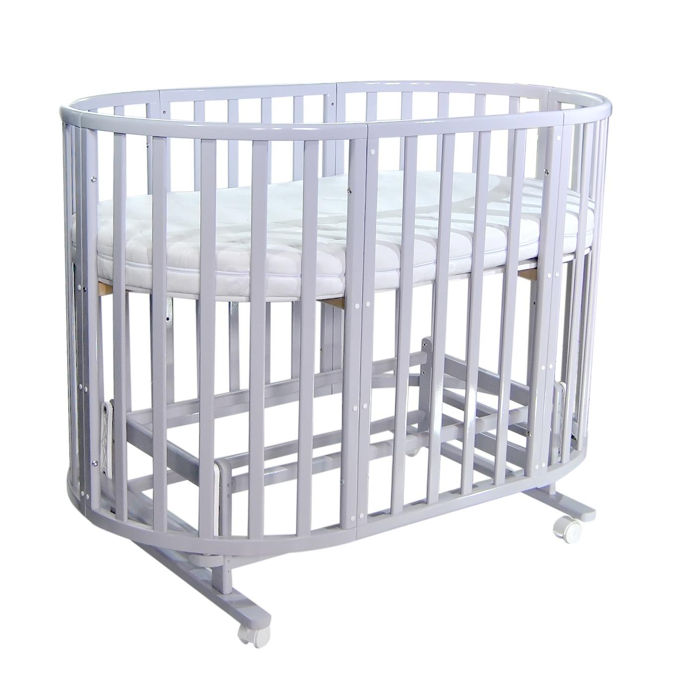 Кроватка детская Everflo Allure 7 в 1 Gray ES-008 с маятником, ПП100004166