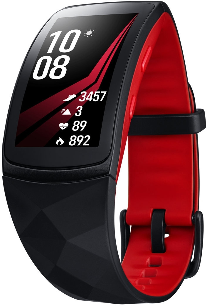 Умные часы Samsung Galaxy Gear Fit 2 Pro, размер S, черный samsung gear fit 2 gray