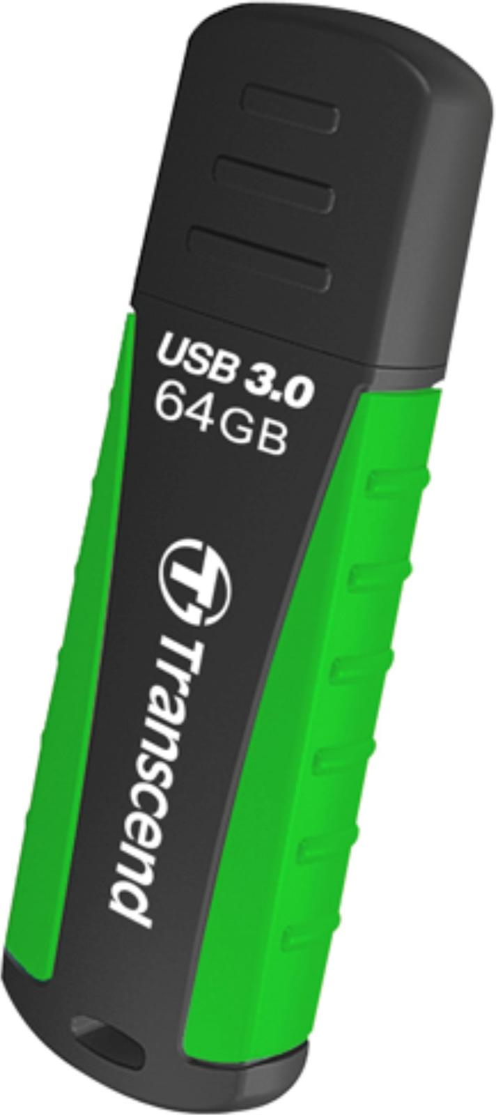 Флеш Диск Transcend 64Gb Jetflash 810 TS64GJF810 USB3.0 черный/зеленый флэш драйв leef ibridge3 32gb pink gold