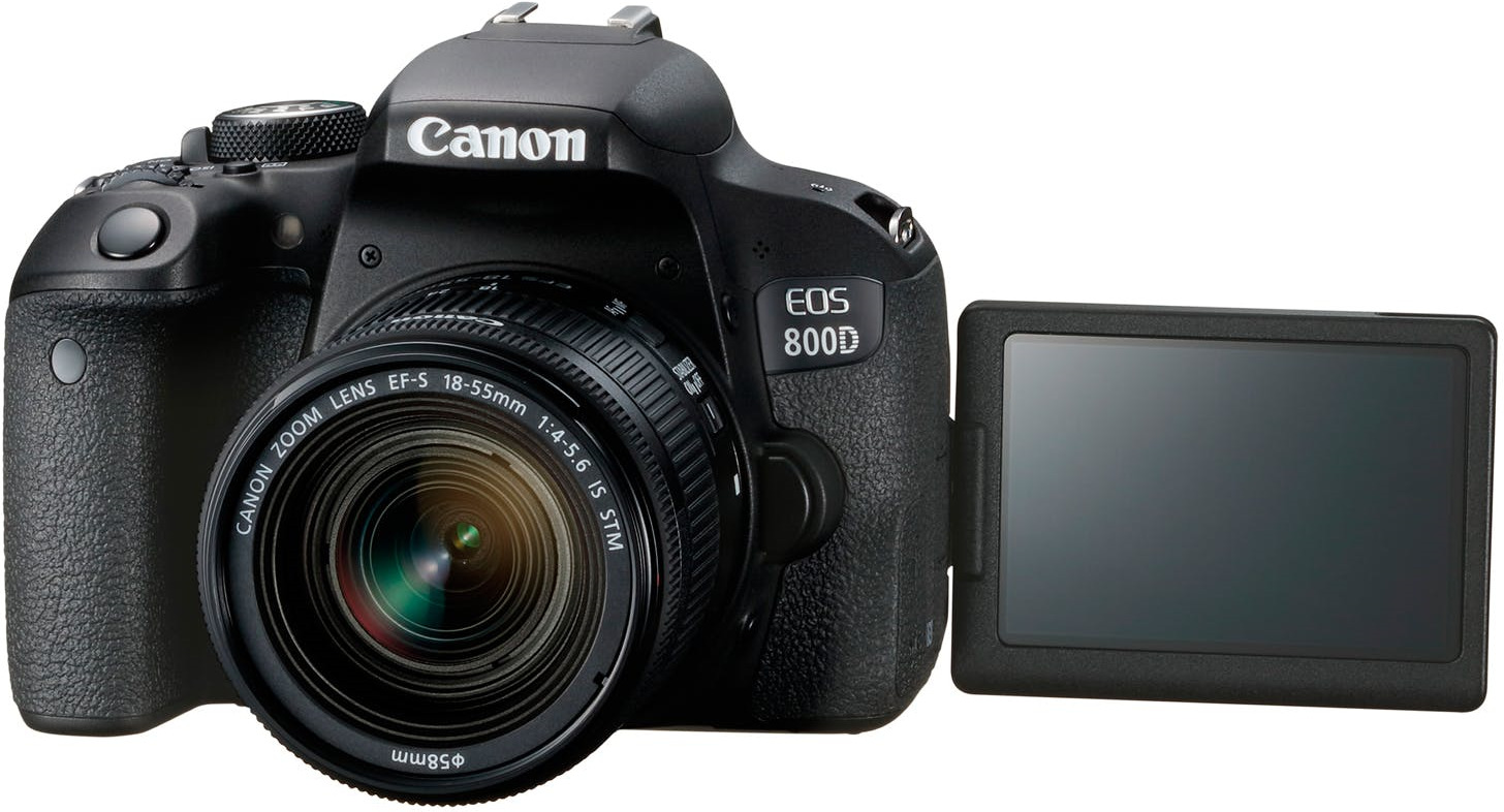 Зеркальный фотоаппарат Canon EOS 800D Kit 18-55 IS STM, 1895C002, черный