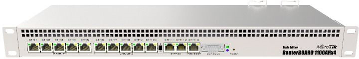Маршрутизатор MikroTik RB1100AHX4 10/100/1000BASE-TX, 1079953, серый маршрутизатор mikrotik rb1100ahx4 13x10 100 1000 mbps rb1100x4
