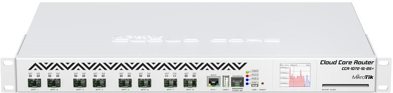 Маршрутизатор MikroTik CCR1072-1G-8S+ 10GBASE-X, 1079992, белый