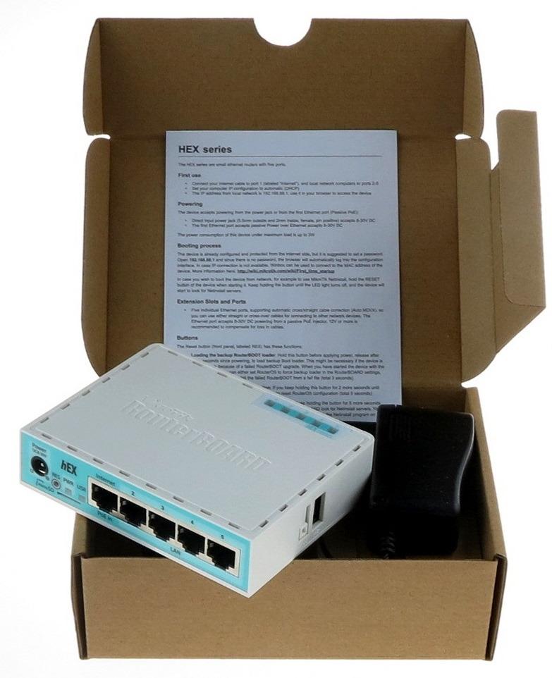 Маршрутизатор MikroTik RB750GR3 10/100/1000BASE-TX, цвет белый