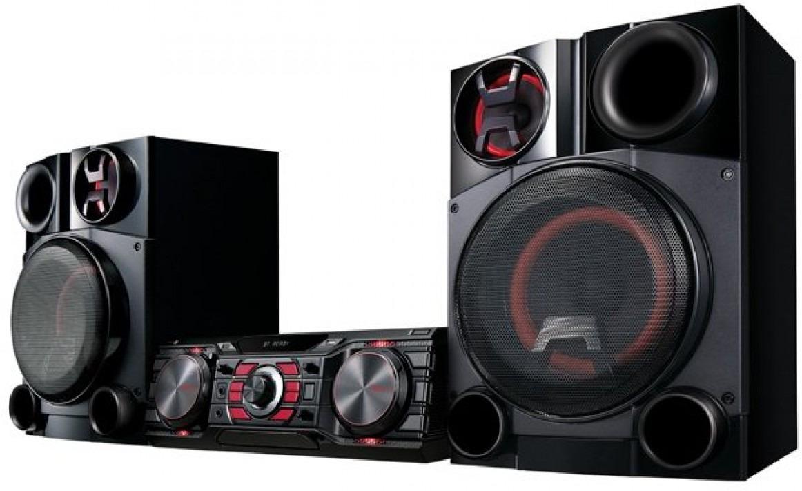 Минисистема LG DM8360K, цвет: черный минисистема lg cj87 720вт черный