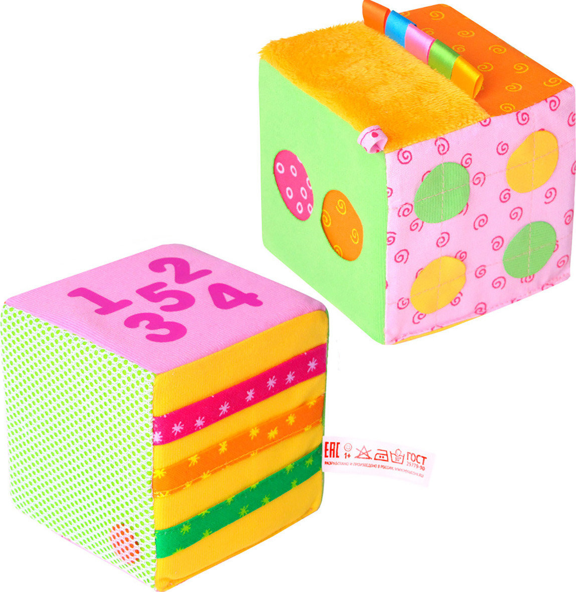 Мякиши Развивающая игрушка Математический кубик333Игрушка «Математический кубик» - это развивающий тренажёр для Вашего малыша. Это целый комплекс игр для развития мелкой моторики. Кубик с приятным звуком погремушки станет не только яркой и интересной игрушкой для вашего малыша, но и отличным помощником для обучения счету. Кубик поможет малышу развивать логическое мышление, внимание, цветовосприятие, будут тренировать память, совершенствовать мелкую моторику, обогащать словарный запас. Изготовлено из гипоаллергенных материалов.