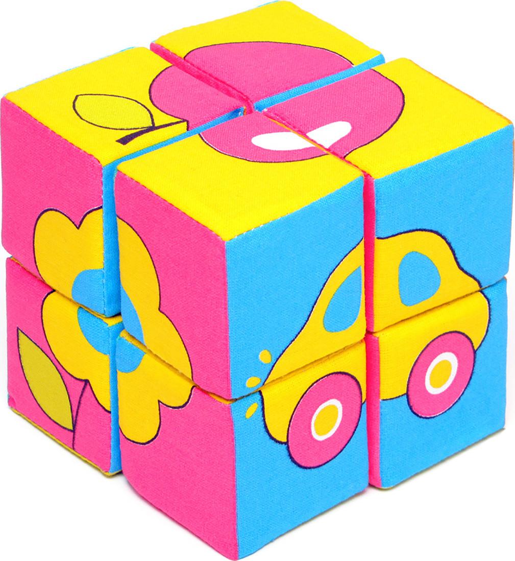 Мякиши Кубики Собери картинку Предметы набор из 2 кубиков мякиши чей детеныш в кор 40наб