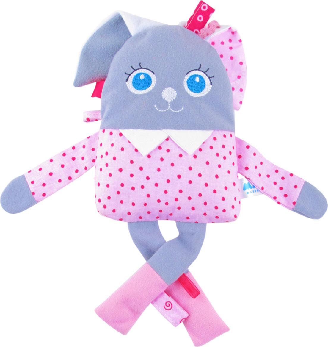 Развивающая игрушка Мякиши Мой зайчик, цвет: серый, белый, розовый цена