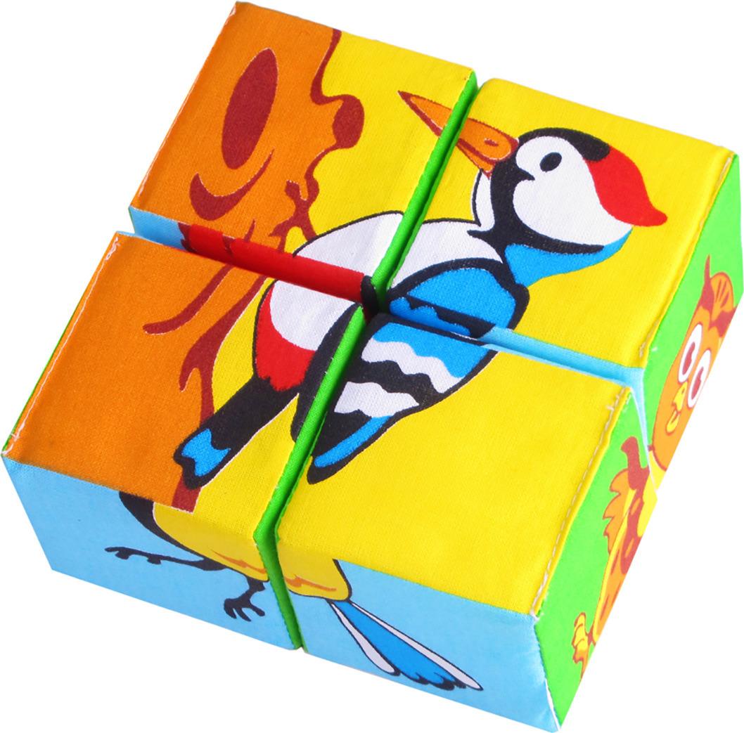 Мякиши Развивающая игрушка Собери картинку Птицы набор из 2 кубиков мякиши чей детеныш в кор 40наб