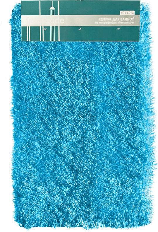Коврик для ванной Fresh Code Тенерифе, цвет: морская волна, 40 х 65 см коврик для ванной fresh code бамбук 40 х 60 см цвет песочный