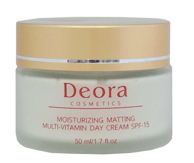 Мультивитаминный увлажняющий и матирующий дневной крем SPF 15 Deora Cosmetics