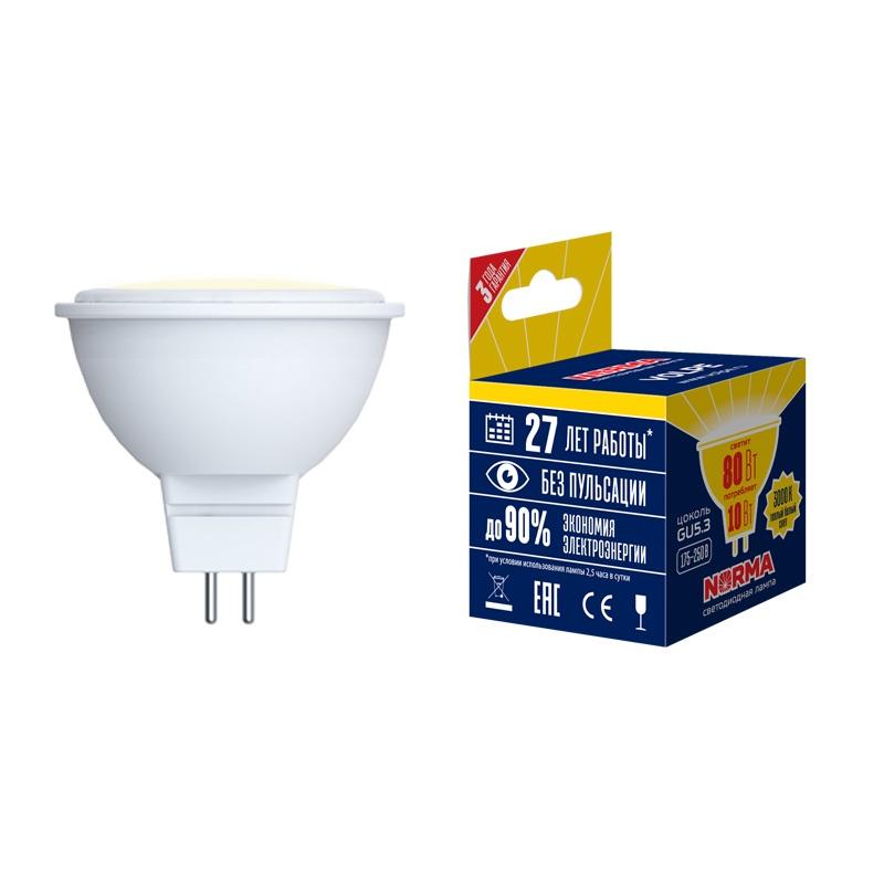 Лампочка светодиодная Volpe Norma, JCDR, UL-00003839, теплый белый свет, LED-JCDR-7W/WW/GU5.3/NR, 3000K