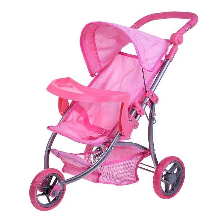 Коляска для кукол Melobo, металлическая, 3-х колесная, 9377В-Т коляска для кукол трансформер melobo розовая круги 9333