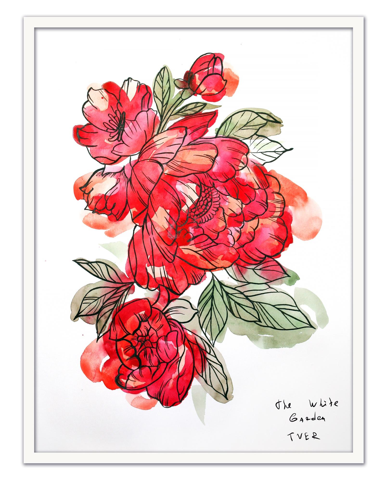 Картина The White Garden TVER Пионы, белый картина фото