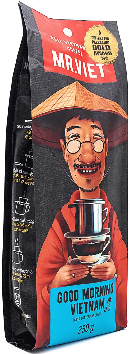 Кофе молотый Sense Asia Mr. Viet Доброе утро, Вьетнам, 250 г dai viet 250g