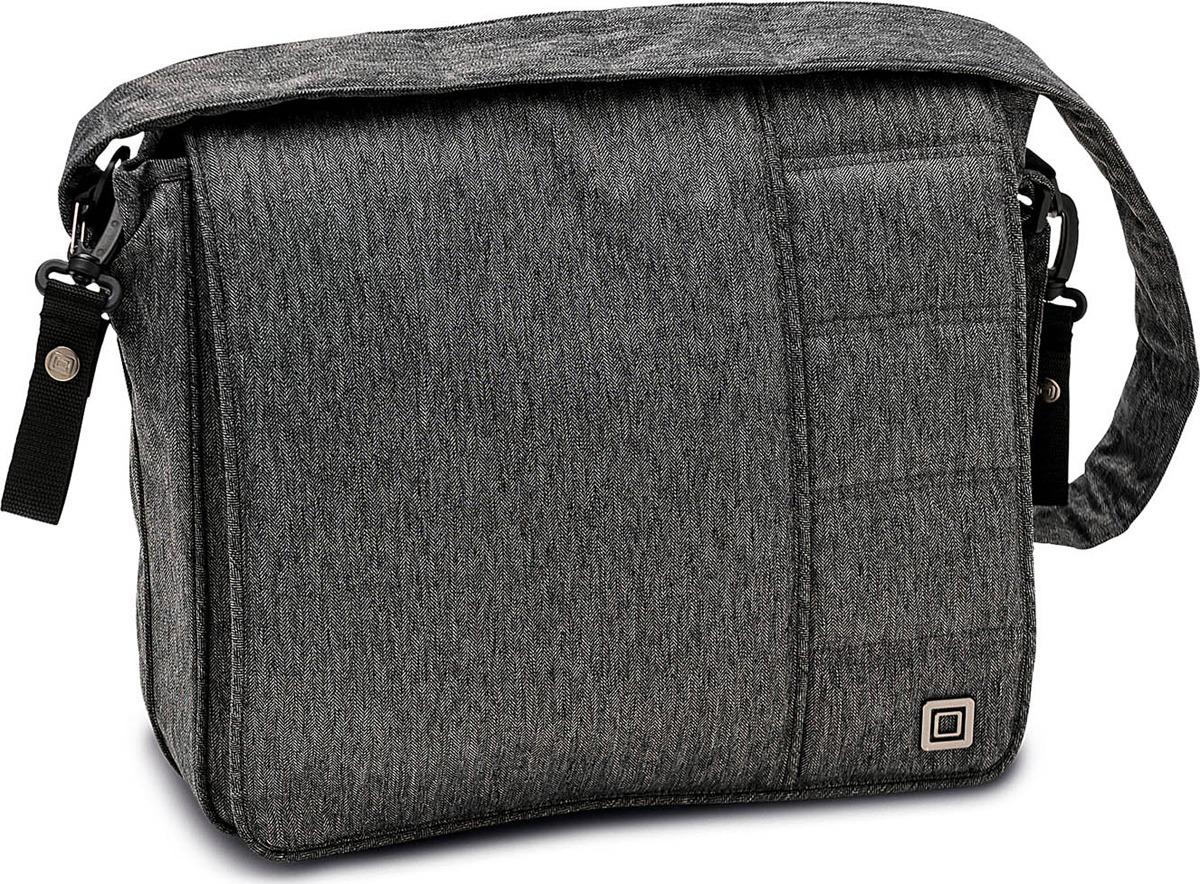 Фото - Сумка на коляску Moon Messenger Bag Stone Fishbone (870) 2018, 65.000.042-870 сумка для коляски moon messenger bag dark brown melange 978