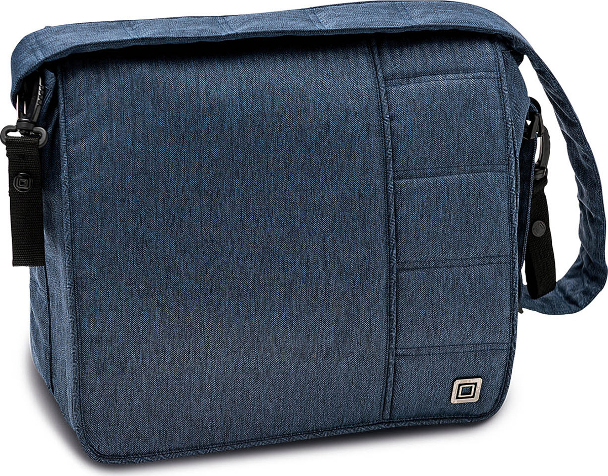 Сумка на коляску Moon Messenger Bag Ocean Fishbone (890) 2018, 65.000.042-890 сумка для коляски moon messenger bag jeans 994