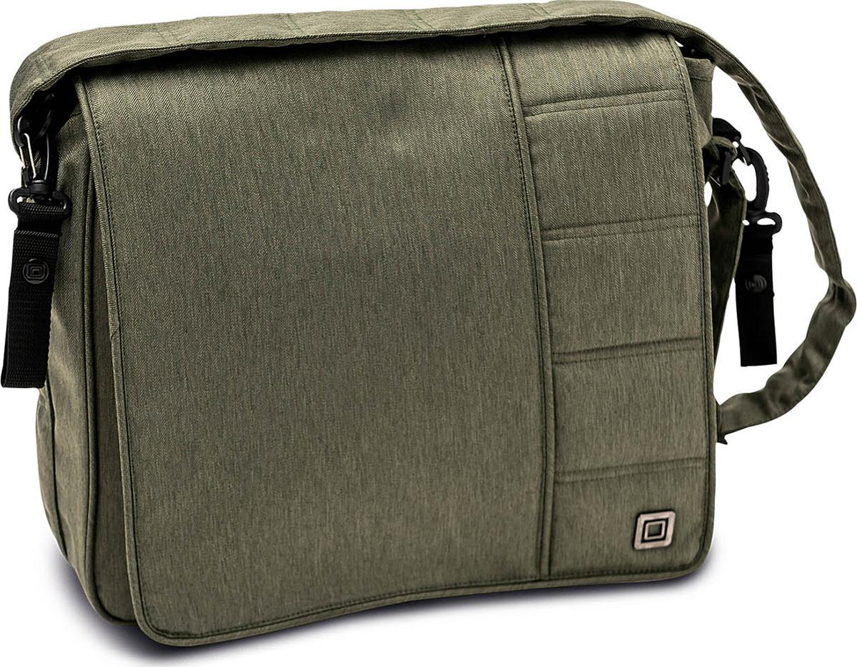 Сумка на коляску Moon Messenger Bag Olive Fishbone (895) 2018, 65.000.042-895 сумка для коляски moon messenger bag jeans 994