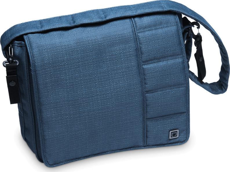 Сумка на коляску Moon Messenger Bag Blue Structure (003) 2019, 68.000.042-003 сумка для коляски moon messenger bag jeans 994