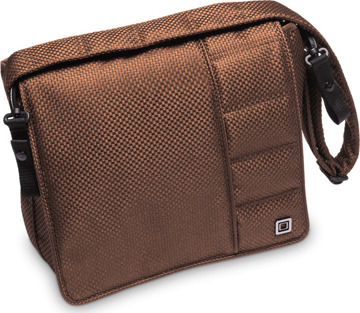 Фото - Сумка на коляску Moon Messenger Bag Chocolate Panama (805) 2019, 68.000.042-805 сумка для коляски moon messenger bag dark brown melange 978