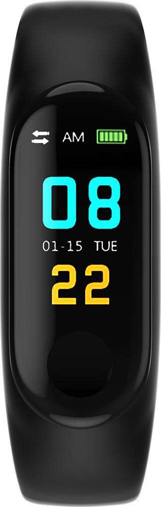 Фитнес-браслет Smarterra Fitmaster Color, черный умный браслет smarterra fitmaster pro black smft 01bk