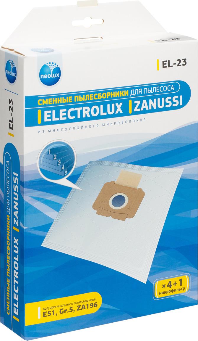 Пылесборник Neolux EL-23, к пылесосу, 00-00000044, белый, 4 шт