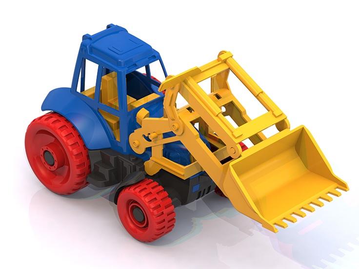 Трактор Нордпласт, 122, синий привет младенца сокровище ksbabe ребенка моча площадку неонатальной мочи мата марля ребенка мочи площадку среды 65 × 50 см синий