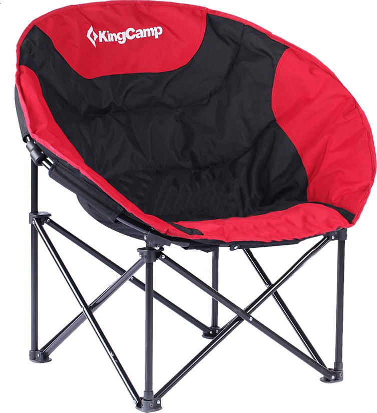 Кресло раскладное KingCamp Moon Leisure Chair, KC3816, красный, 84 х 70 х 80 см кресло складное kingcamp moon leisure chair цвет зеленый