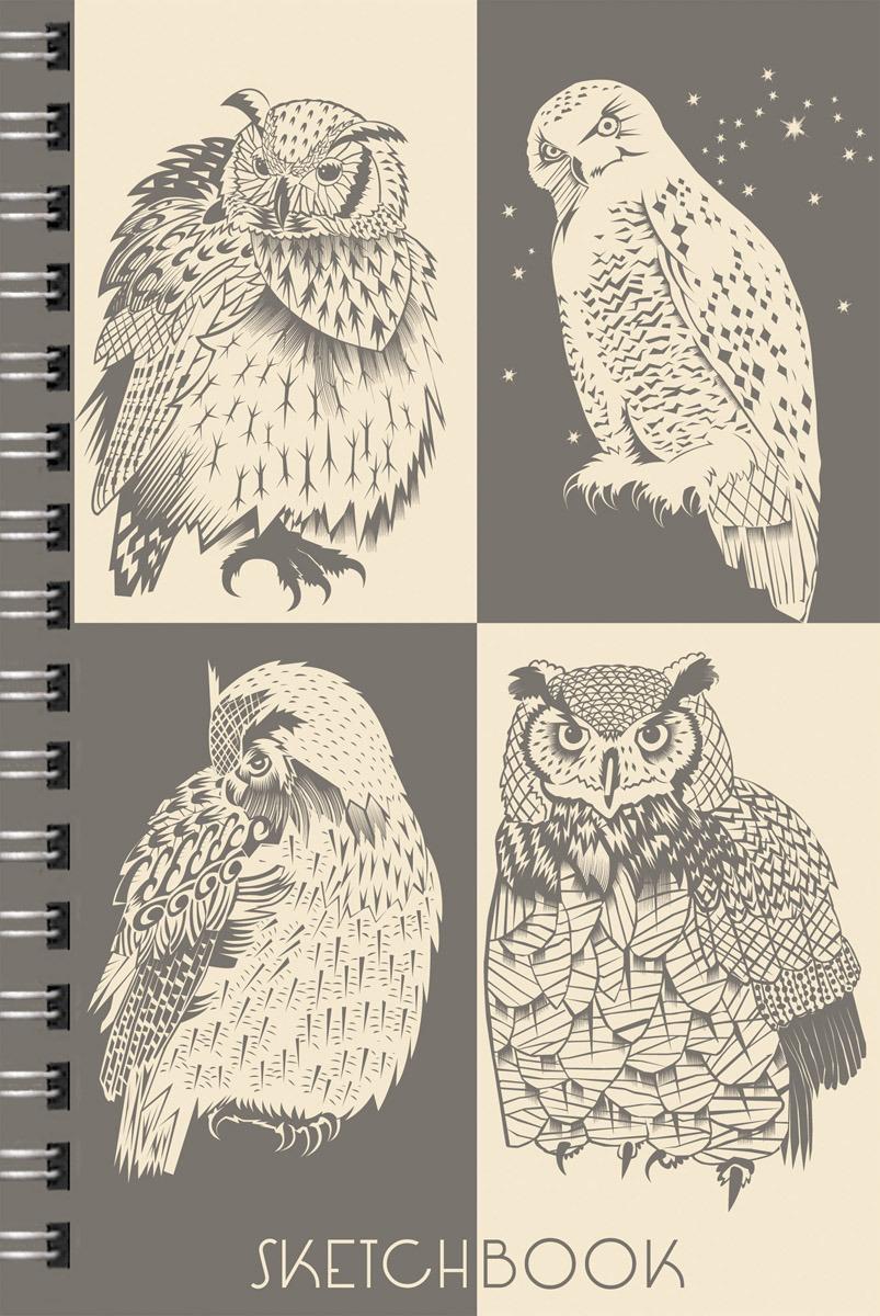 """Скетчбук Paper Art """"Совы & филины"""", ТС51004649, 100 листов"""