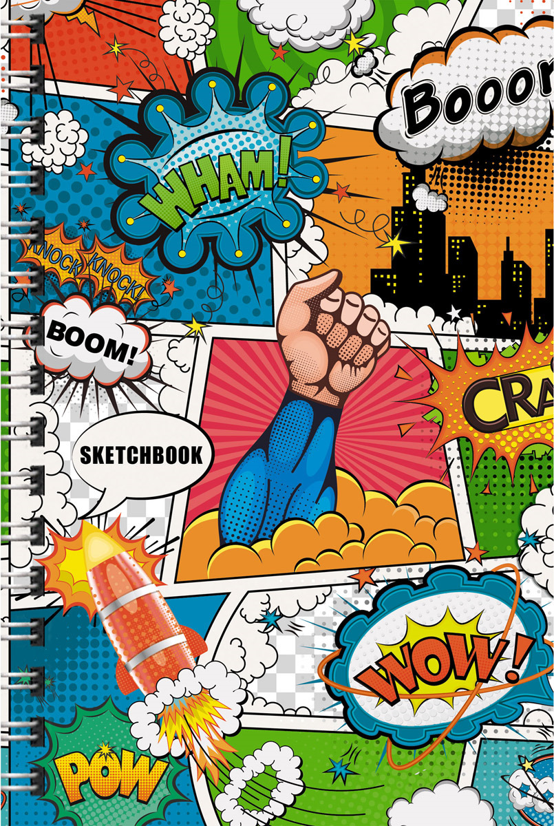 """Скетчбук Paper Art """"Комиксы"""", ТС51004656, 100 листов"""