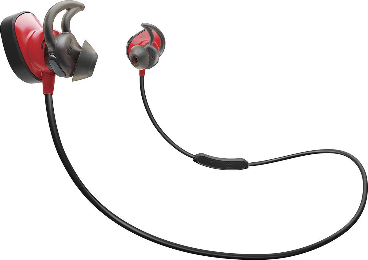 Беспроводные наушники Bose SoundSport Pulse, красный bose