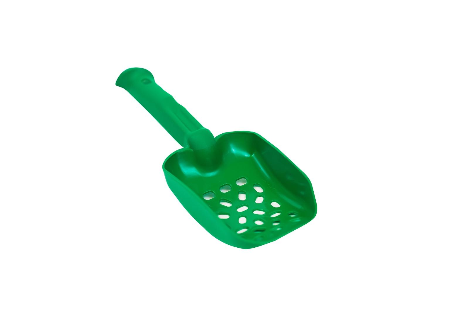 Совок из антибактериального экопластика универсальный КисПис KisPis 27 см (зелёный)-13378