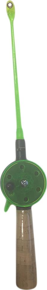 Удочка зимняя AGP, с пробковой ручкой, катушка 50 мм, УТ000031701, зеленый