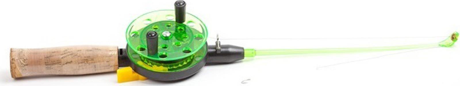 Удочка зимняя AGP, с пробковой ручкой, катушка 75 мм, УТ000031702, зеленый катушка agp wk 3 зеленый темно зеленый черный