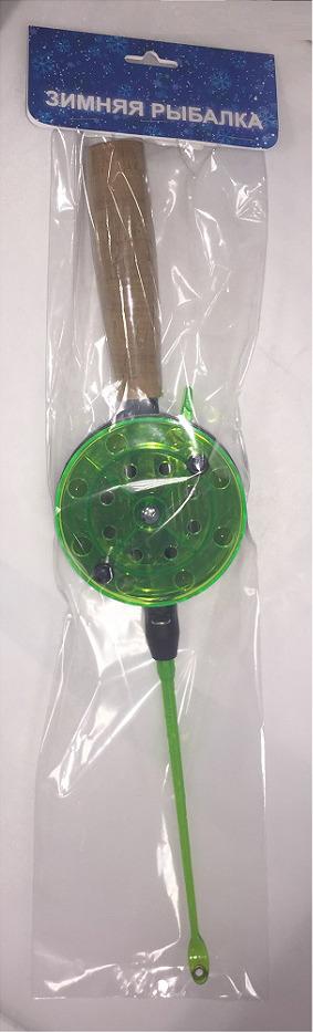 Удочка зимняя AGP, с пробковой ручкой, катушка 90 мм, УТ000031703, зеленый донная снасть agp карповая темно зеленый зеленый черный