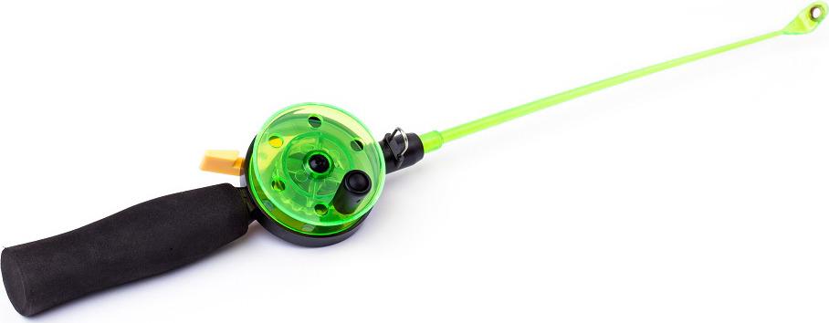 Удочка зимняя AGP, с неопреновой ручкой, катушка 50 мм, УТ000031704, зеленый