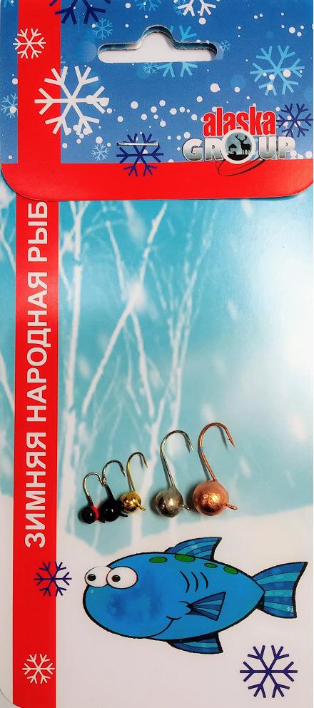 Мормышка вольфрамовая AGP Набор №1, УТ000031732, разноцветный, 5 шт блесна stinger phantom tt frc длина 38 мм вес 5 гр