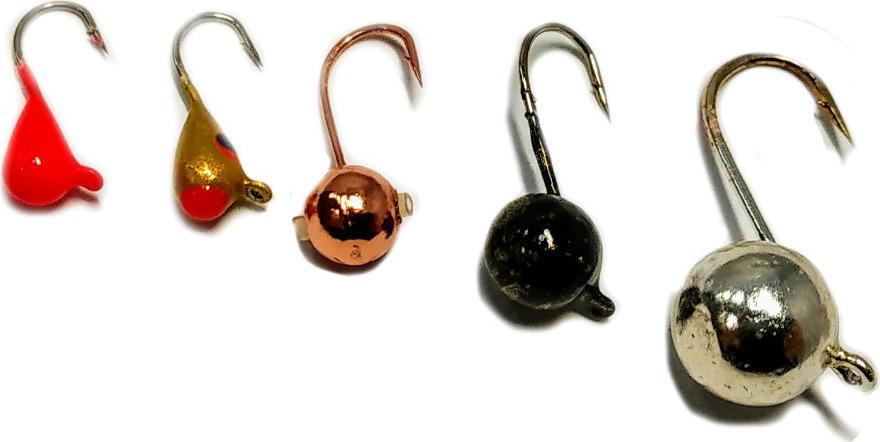 Мормышка вольфрамовая AGP Набор №6, УТ000031737, разноцветный, 5 шт