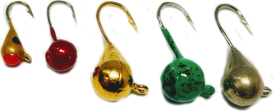 Мормышка вольфрамовая AGP Набор №10, УТ000031741, разноцветный, 5 шт