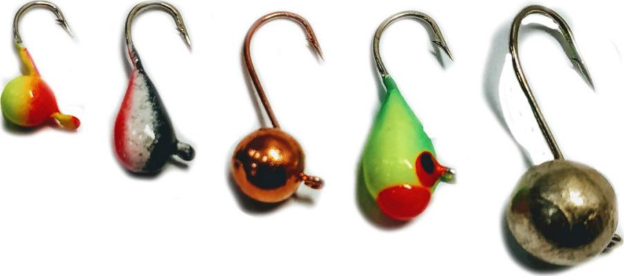 Мормышка вольфрамовая AGP Набор №11, УТ000031742, разноцветный, 5 шт