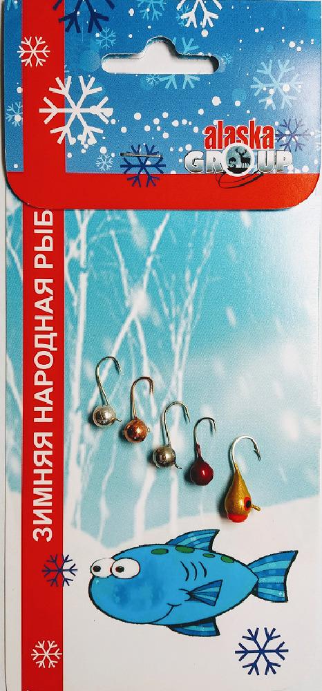 Мормышка вольфрамовая AGP Набор №15, УТ000031746, разноцветный, 5 шт